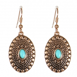 Wholesale M21C Textured oval drop earrings APG