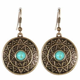 Wholesale M21C Textured disc earrings RGB