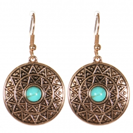 Wholesale M21C Textured disc earrings APG
