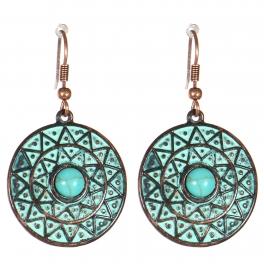 Wholesale M21C Textured disc earrings OG