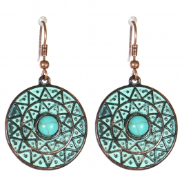 Wholesale M21C Textured disc earrings OG