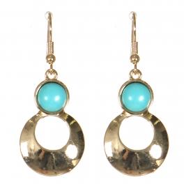 Wholesale M21D Round cut out drop earrings GD