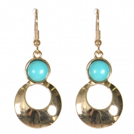 Wholesale M21D Round cut out drop earrings GD