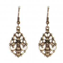 Wholesale M21C Metal filigree earrings RGB