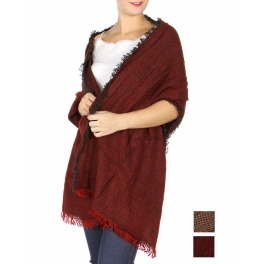 Wholesale R64B Frayed two tone scarf