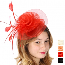 Wholesale V52B Feather and flower fascinator