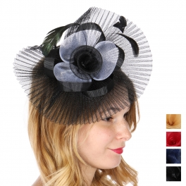 Wholesale W32A Pleated fascinator headband