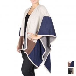 Wholesale T63 Color block cape