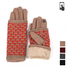 Wholesale Q27C Double layer knit gloves