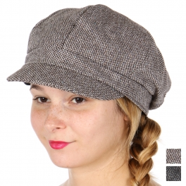 Wholesale W56D Tweed wool blend newsboy cap