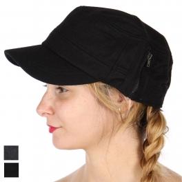 Wholesale W61C Wool blend zip detail cadet hat