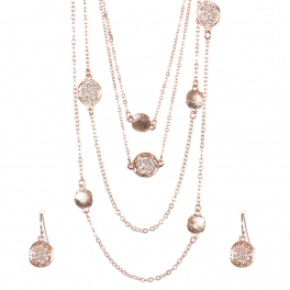 Wholesale Multi strand metal necklace set RGCR