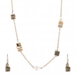 Wholesale Cubic strand necklace set GCR