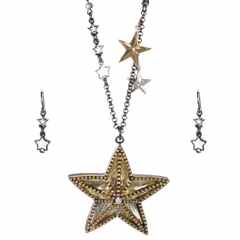 Wholesale Beaded star pendant necklace set HTG