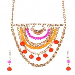 Wholesale Layered bead necklace set GFU