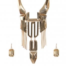 Wholesale Metal fringe necklace set G