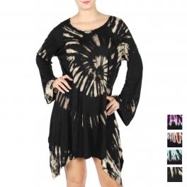 Wholesale Q10C Long sleeve sharkbite dress