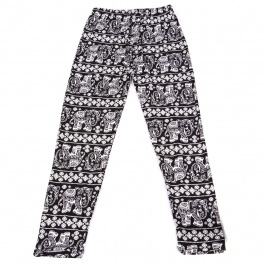 Wholesale B20A Girls print leggings ELEPHANT BLACK