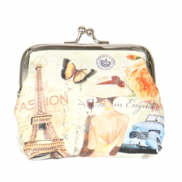 Wholesale L14A Coin purse Eiffel Tower