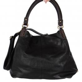 Wholesale R52C Colorblock faux leather shoulder bag