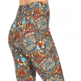 Wholesale S22D NEW MIX Soft brushed print leggings Abstract
