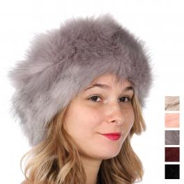 Wholesale T69D Faux fur head wrap