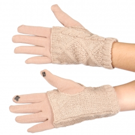 Wholesale T76D Cable knit 2 way touch screen gloves BE