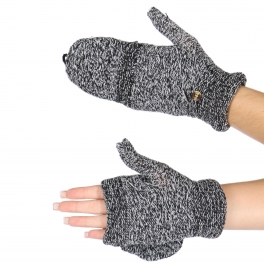 Wholesale P43A Two way gloves/mittens Black