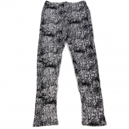 Wholesale C00 Thermal fur inside girls leggings BK/WT