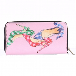 Wholesalse P24D High heel print wallet