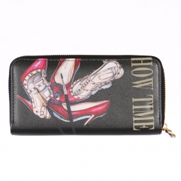 Wholesalse P18C Paintbrush heel print wallet