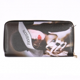 Wholesalse P18C Red lip girl wallet
