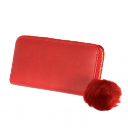 Wholesalse P16C Pom pom wallet Beige