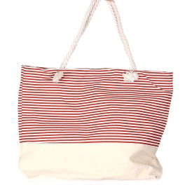 Wholesale S78A Extra large canvas beach bag Stripe 3 NAV