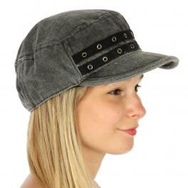 wholesale G04 Cotton Denim Hat Black fashionunic