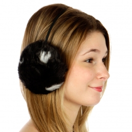 wholesale N00 Blot faux fur earmuffs Black fashionunic