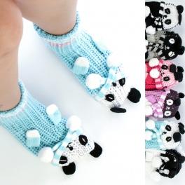 wholesale L29 Dozen 3D Animal Slipper socks fashionunic