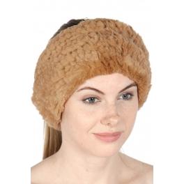 wholesale H11 Rex fur headband Camel fashionunic