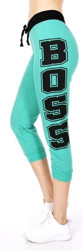wholesale M06 Cotton blend capri pants Boss Green