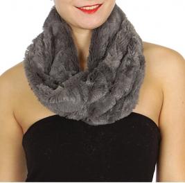 Wholesale U33B Plush neck warmers assorted color Dozen