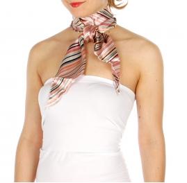 Wholesale P18D Diagonal Stripes Satin Bias Neck Scarf L/PI