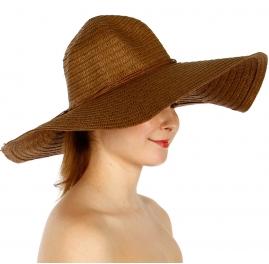 Wholesale V04A Wide Floppy Hat Beige