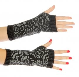 wholesale K04 Leopard hot fix arm warmer Grey