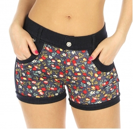 Wholesale H16 Cotton blend flower print short pants