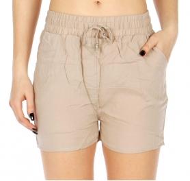 Wholesale P11 Elastic waist shorts Orange