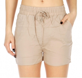 Wholesale P11 Elastic waist shorts Orange
