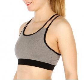 Wholesale P05 Colorblocked sport bra BK/GY
