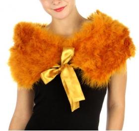wholesale R59 Turkey Feather Shawl Gold fashionunic