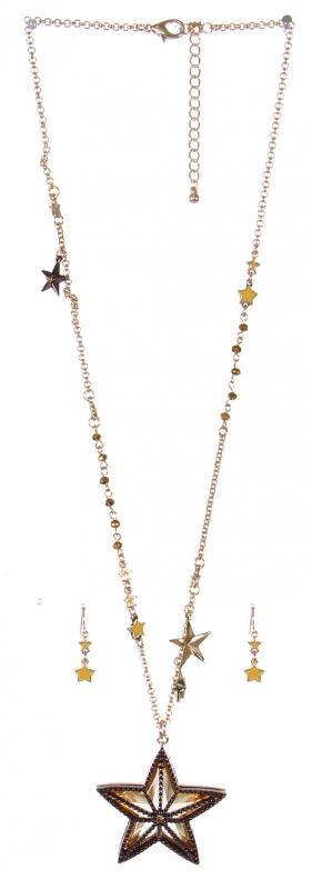 Wholesale Beaded star pendant necklace set GCH