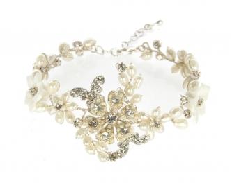 Wholesale N35 Pearl flower bracelet Silver fashionunic